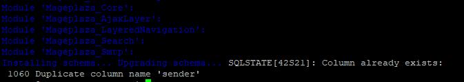 SQLSTATE1060