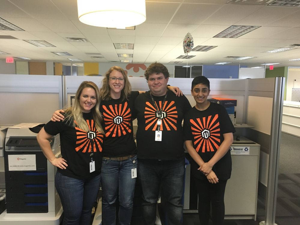 Here I am, second from left with some other MagentoATX peeps!