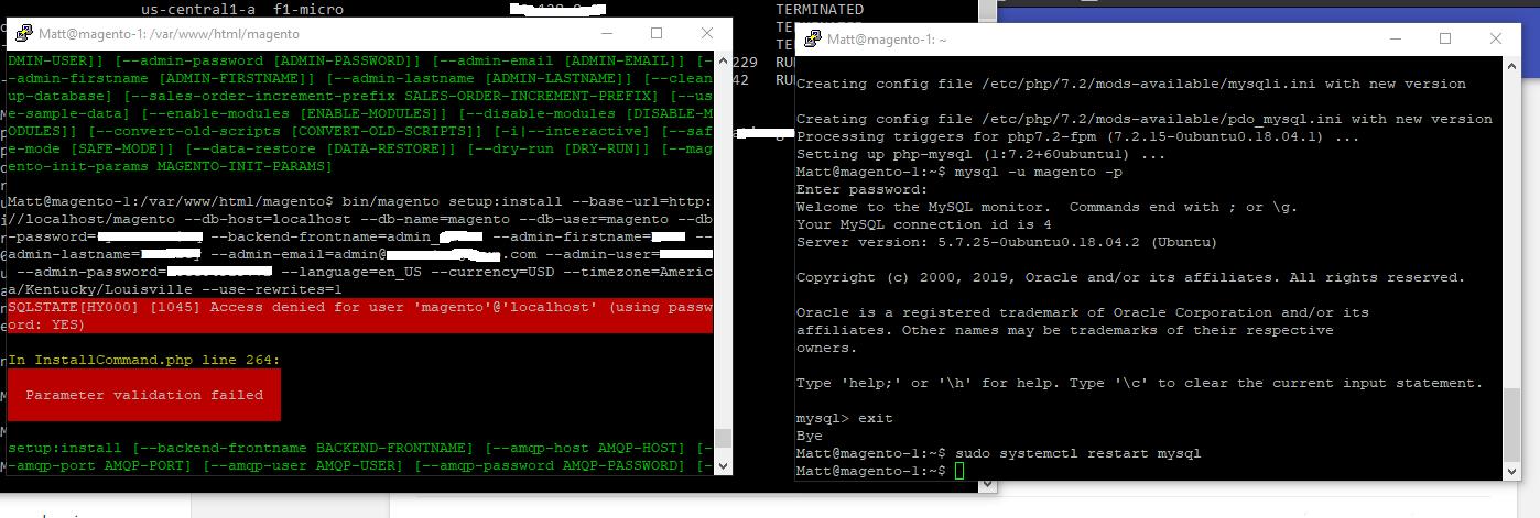 Solved: MySQL Access Denied despite correct authentication - Magento