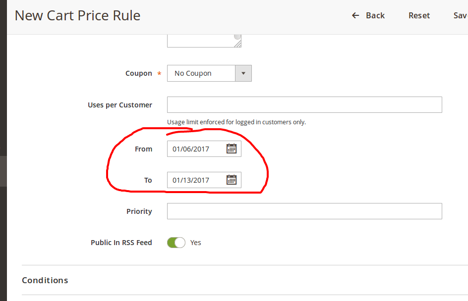 New Cart Price Rule   Promotions   Marketing   Magento Admin.png