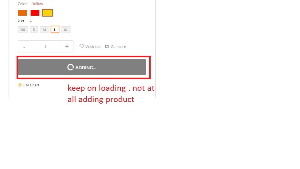 keep on loading while clicking on add to cart butt magento forums