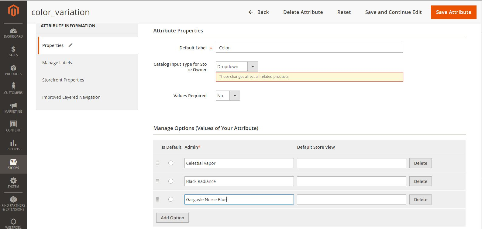 Insert attribute options (values) in bulk - Magento Forums