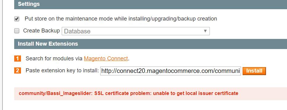 Error In Installing Extension On Localhost Xampp Magento Forums