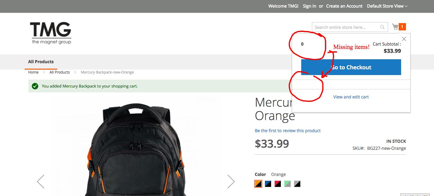Magento 2 minicart not displaying item nor item co    - Magento Forums