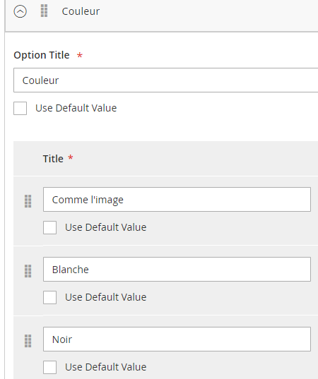 import custom option for different store view - Magento Forums
