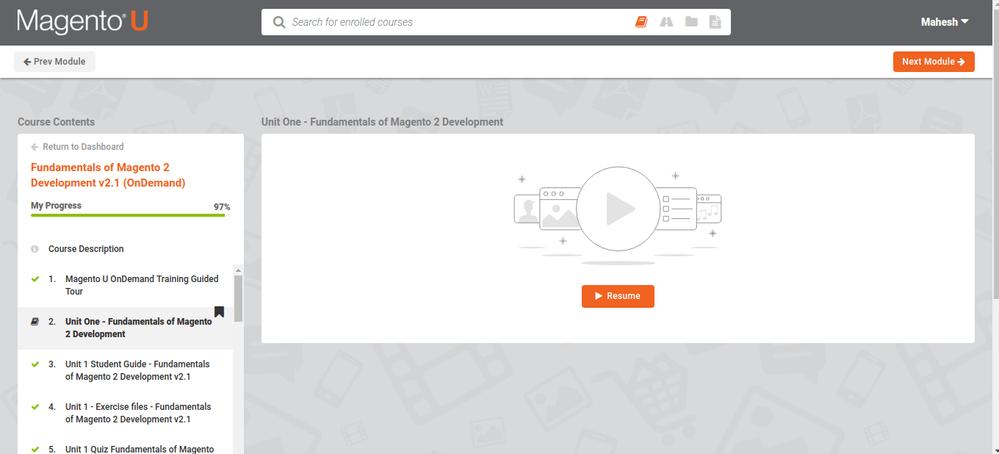 Solved: Unit One - Fundamentals of Magento 2 Development A