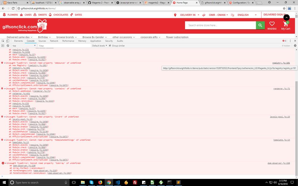 Uncaught Type Error in magento 2, JS not loaded pr
