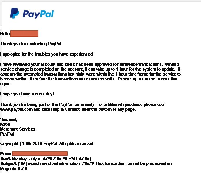 Solved: SOLVED: Paypal Payments Pro Problem (Error 10548